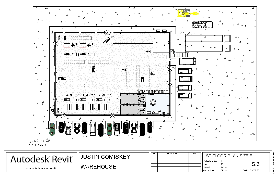 Rapid prototyping warehouse justin time designs for Warehouse floor plan design